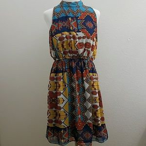 Hot & Delicious Aztec Print Open Back Dress